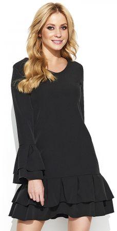 Makadamia ženska haljina, 36, crna