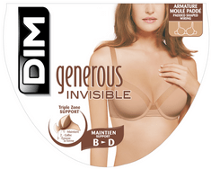 DIM GENEROUS INVISIBLE LIGHT PADDED BRA