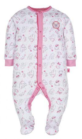 G-mini śpioszki dziecięce Niedźwiadek, 56, białe/różowe