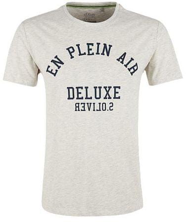 s.Oliver pánské tričko M smotanová