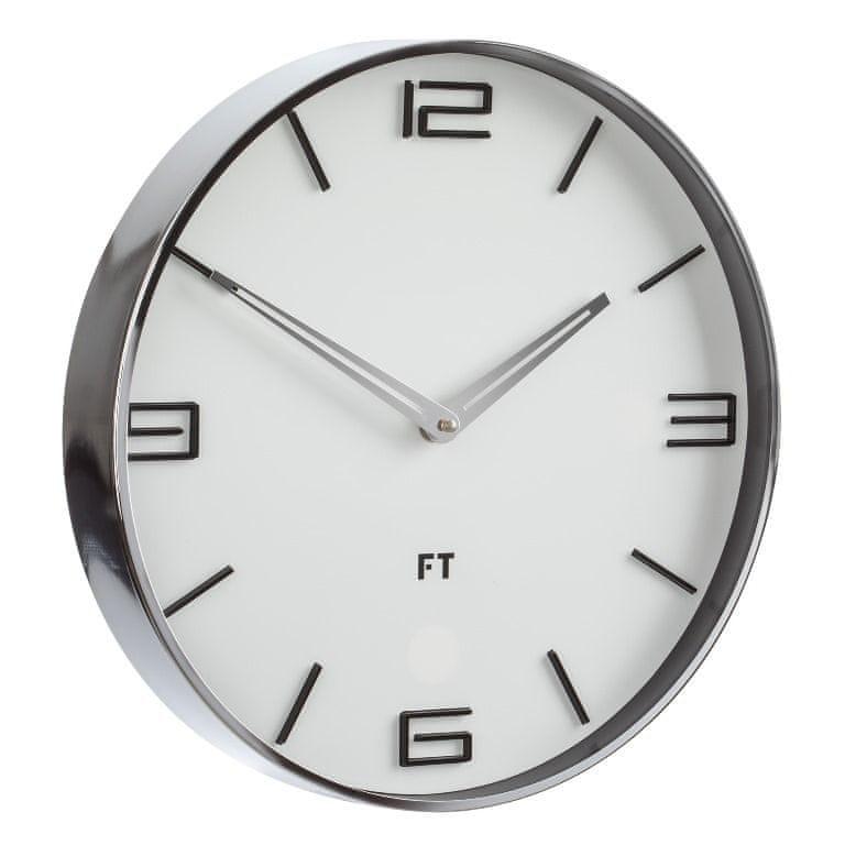 Future Time Designové nástěnné hodiny FT3010WH Flat white 30cm