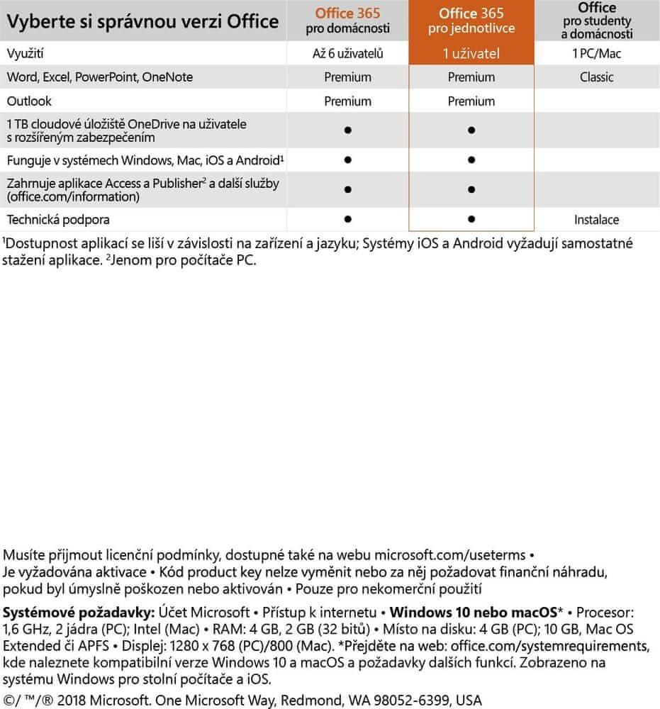 Microsoft Office 365 pro jednotlivce (QQ2-00742)