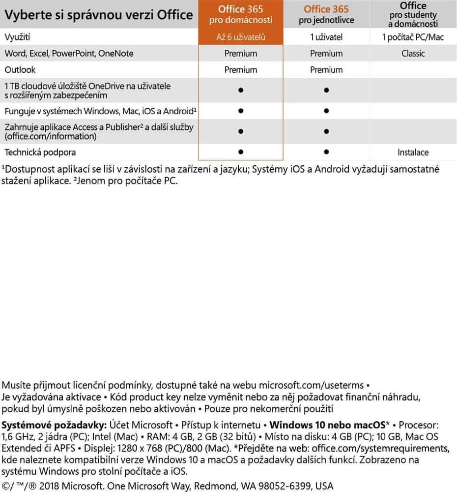 Microsoft Office 365 pro domácnosti (6GQ-00898)