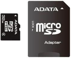 Adata Micro SDHC 32GB Class 4 + adaptér (AUSDH32GCL4-RA1)