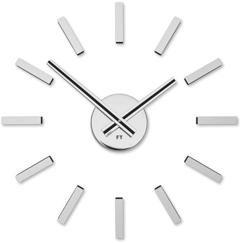 Future Time Designové nalepovací hodiny FT9400SI Modular chrome 40cm
