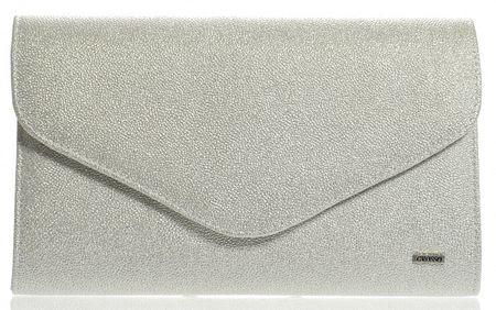 GROSSO BAG ženska večernja torbica, srebrna