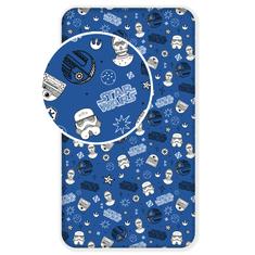 Jerry Fabrics Bavlněné prostěradlo Star Wars Galaxy Blue 90x200 cm