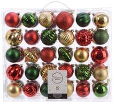 Kaemingk Set 60 ks vánočních ozdob Taste of XMAS