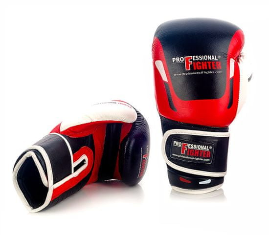 """PROFESSIONAL-FIGHT Boxerské rukavice """"Modern"""", červená 10oz"""