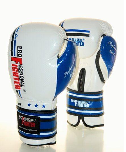 """PROFESSIONAL-FIGHT Boxerské rukavice """"Carbon"""", bílá/modrá 10oz"""