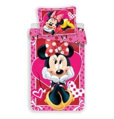 Jerry Fabrics povlečení Minnie hearts 02 140x200 70x90