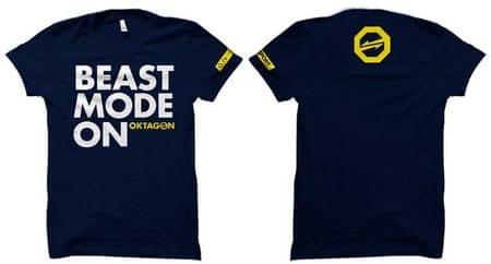 """OKTAGON Tričko """"Beast Mode On"""", modrá L"""