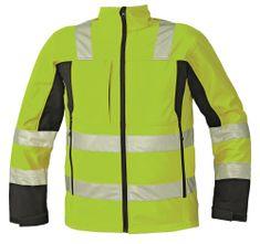 Cerva Reflexná softshellová bunda Malton žltá L
