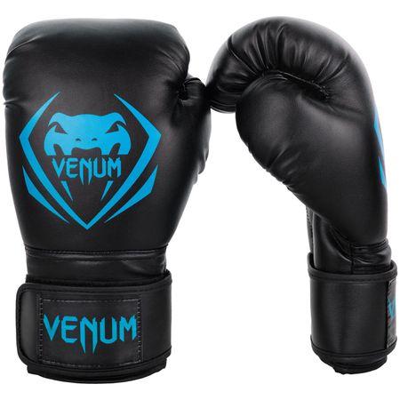 "VENUM Boxerské rukavice ""Contender"", čierna/modrá 10oz"