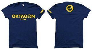 """OKTAGON Tričko """"Oktagon"""", tmavo modré L"""