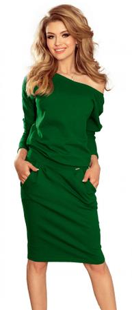Numoco dámské šaty S zelená