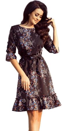 Numoco ženska obleka, črna, S