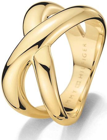Tommy Hilfiger Masívny zlatý prsteň z ocele TH2700964 (Obvod 58 mm)