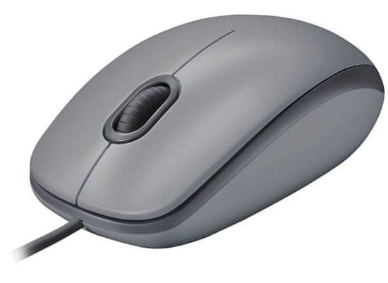Logitech M110 Silent miška, siva
