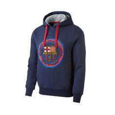 FC Barcelona Core otroški pulover s kapuco