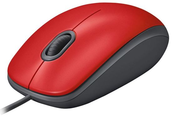 Logitech M110 Silent miška, rdeča