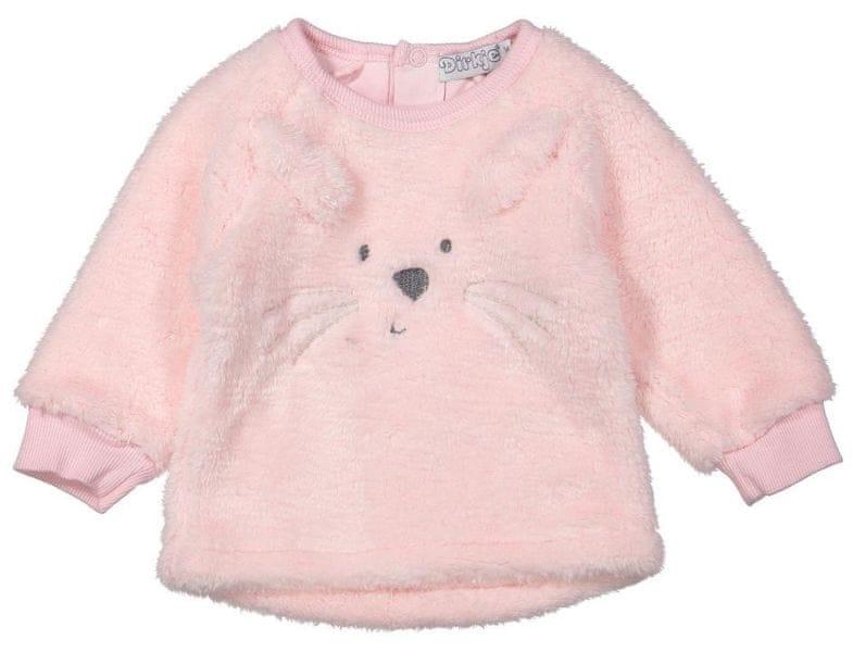 Dirkje dívčí mikina králíček 80 růžová