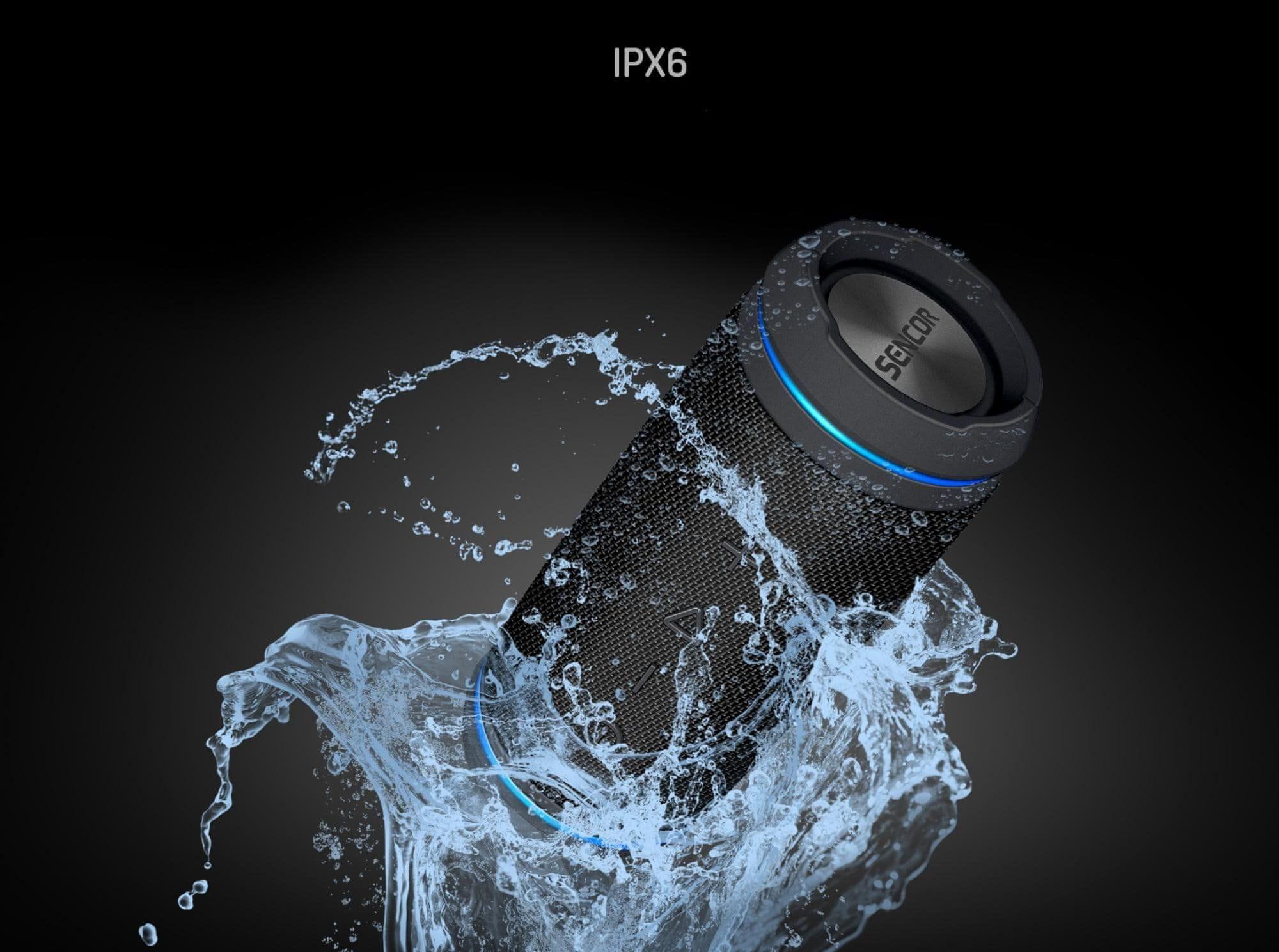 Sencor Sirius SSS 6400N fülhallgató vízálló IPX6 védelem