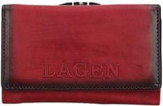 Lagen Női bőr pénztárca V-TPD-36 Red