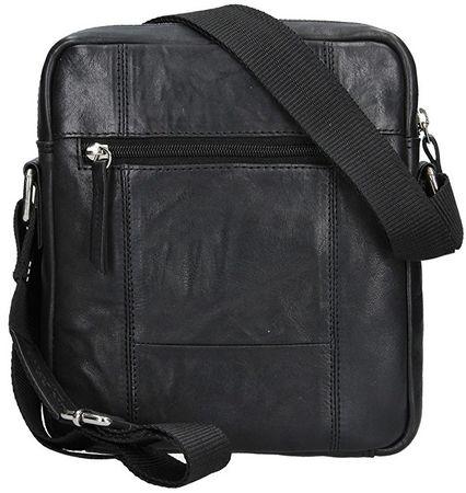 Lagen Kožená crossbody taška 222-2 Black  6ba17501cd6