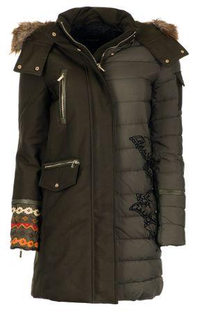 Desigual dámský kabát Monica 36 zelená