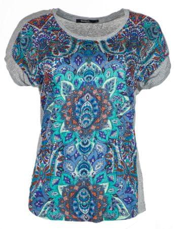 Desigual dámské tričko Sevilla M sivá