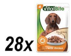 VitalBite Kapsičky kuřecí trhané kousky 28 x 85 g