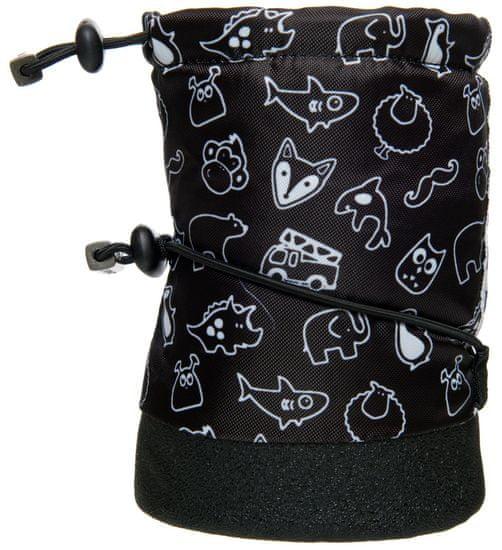 Stonz otroški nepremočljivi copati Print, 18, črn - Odprta embalaža