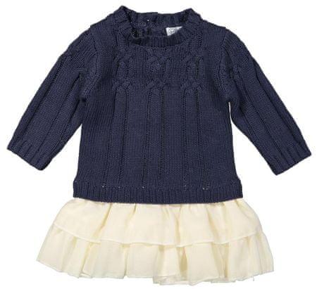 Dirkje sukienka dziewczęca ocieplana 86 biało-niebieska