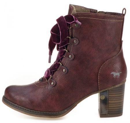 Mustang buty za kostkę damskie 36 burgundowe
