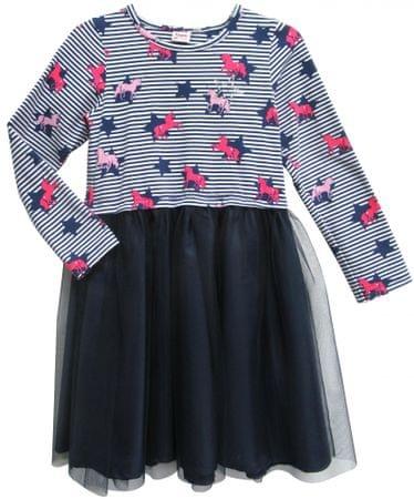Topo dekliška obleka, modra, 98