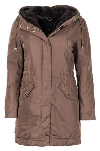 Geox dámský kabát Myluse XS hnědá