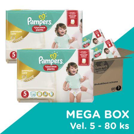 Pampers pieluchomajtki Premium Pants Mega Box S5 80ks