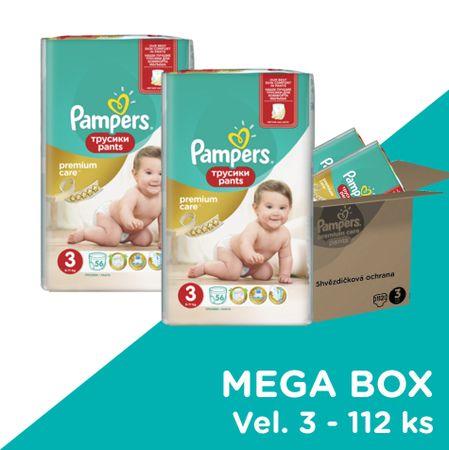 Pampers hlačne plenice Premium Pants Mega Box S3, 112 kosov