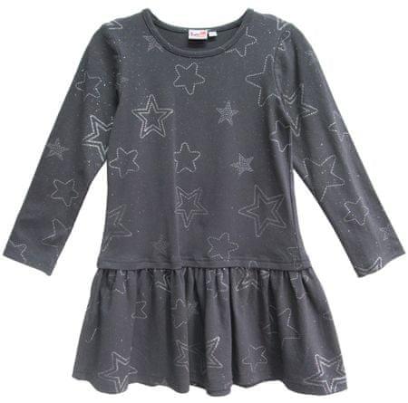 Topo dekliška obleka, siva, 98