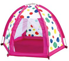 BINO namiot w kolorowe grochy