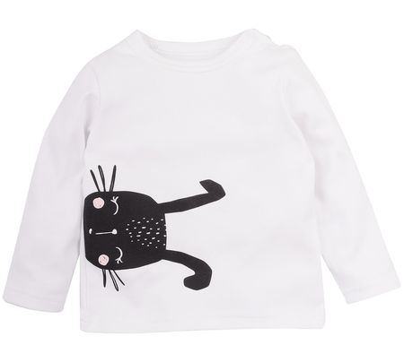 Garnamama otroška majica Rabbit, 80, bela