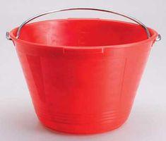 Ausonia vedro plastično 10L, rdeče
