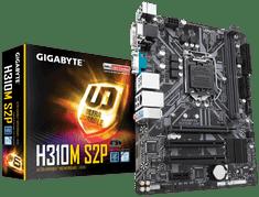 Gigabyte osnovna plošča H310M S2P, DDR4, SATA3, USB 3.1 Gen1, LGA1151, mATX
