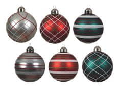 Kaemingk Set 12 ks vánočních ozdob, skleněné, mix