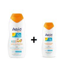 Astrid Dětské mléko na opalování OF 50200 ml+ Hydratační mléko na opalování OF 15100 mlSUN