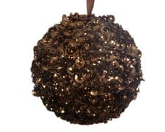 Kaemingk Set 12 ks vánočních ozdob s glittery, čokoládové