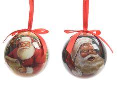 """Kaemingk Set 7 ks vánočních ozdob """"Santa"""", plastové"""