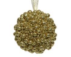 Kaemingk Set 12 ks vánočních ozdob, 8 cm, zlaté