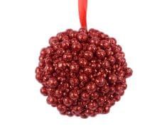 Kaemingk Set 12 ks vánočních ozdob, 8 cm, červené